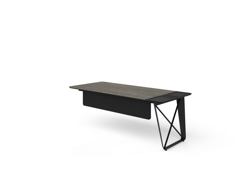 alpi x berlin siyah tek ayaklı masa