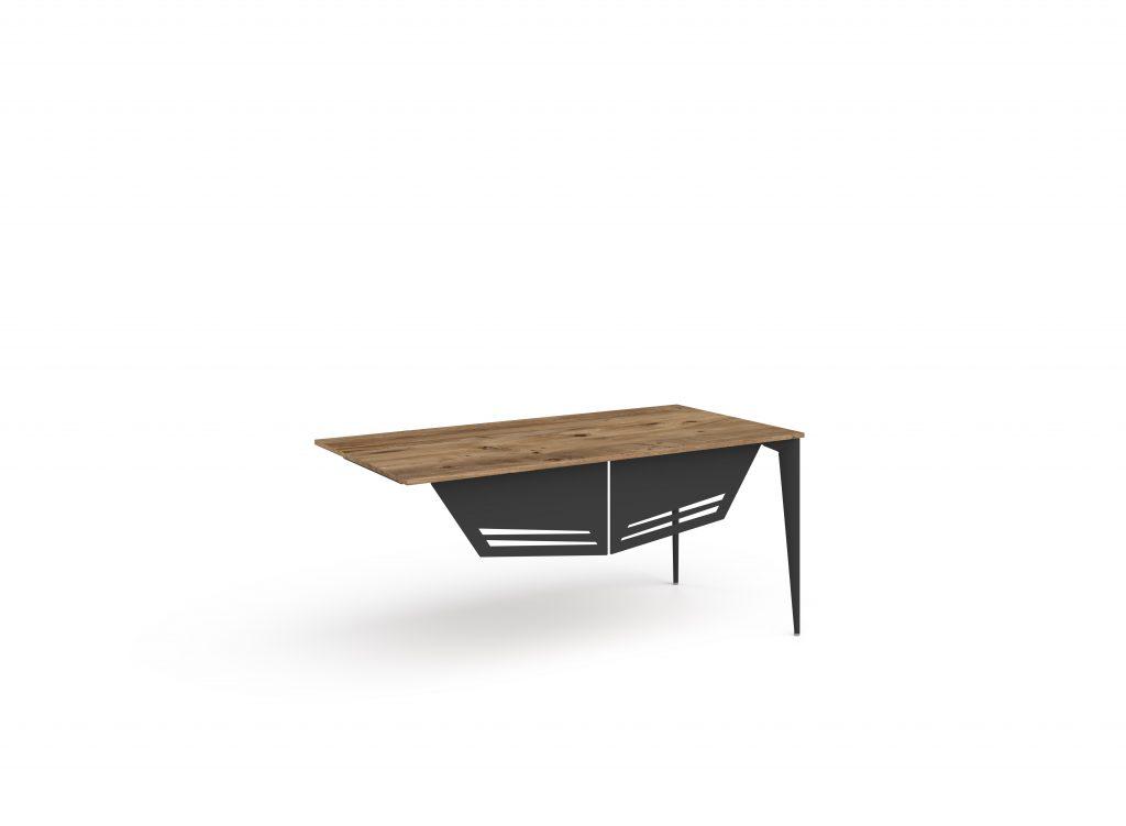 ritim atlantik çam siyah masa iki ayaklı