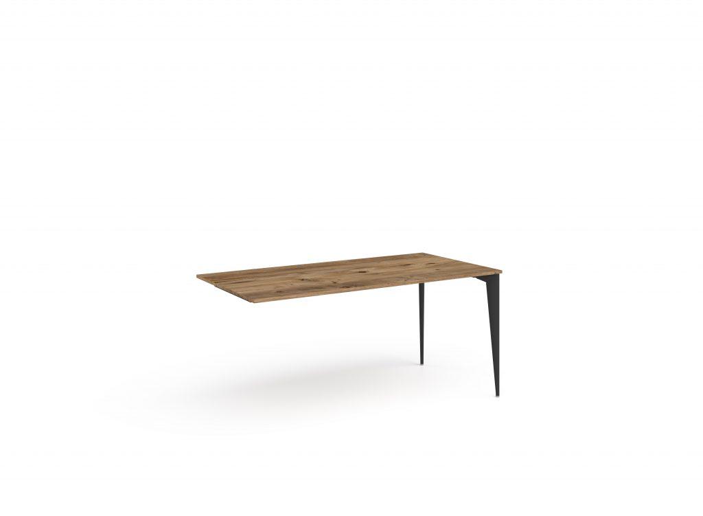 ritim atlantik çam siyah masa iki ayaklı perdesiz
